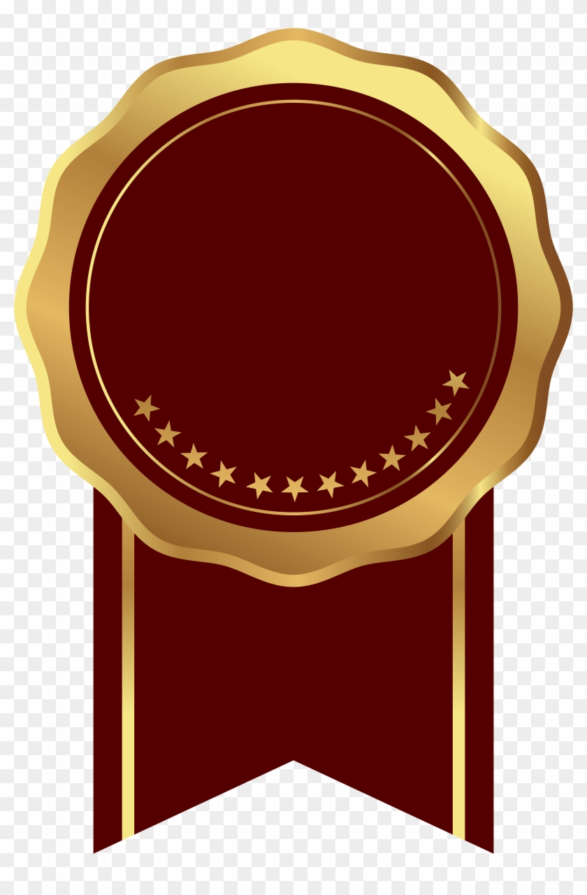 Free Png Download Seal Badge Gold Red Transparent Clipart.