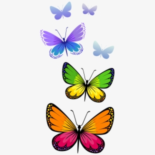Orange Butterfly Clip Art.