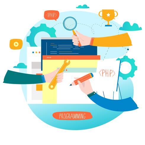Coding, programming, website and application development.