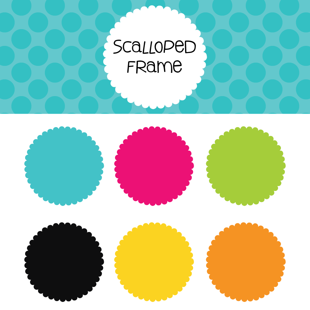 Scalloped Frame Free Download.