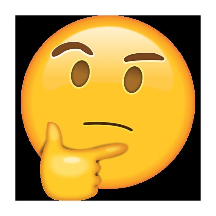 Thinking Emoji Sticker Thought Emoticon.