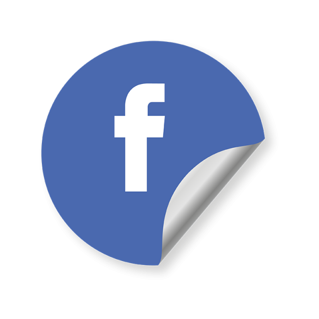 Facebook Logo Social Media Icon, Round Icon, Blue Icon.