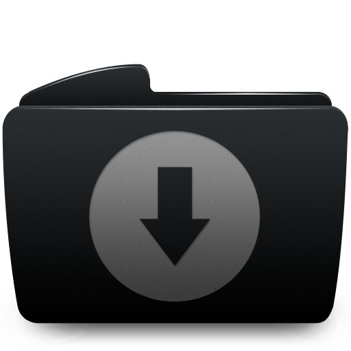 Download, folder icon.