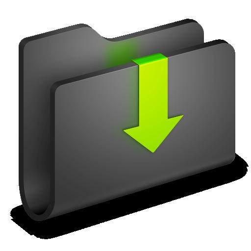 Downloads, folder icon.