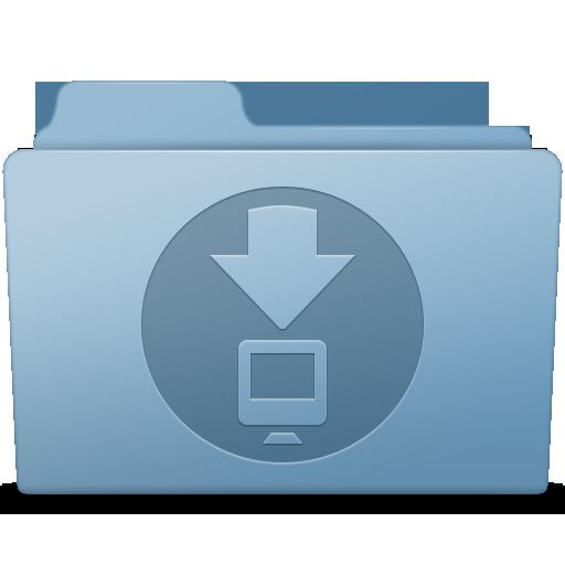 Downloads Folder Blue Icon.