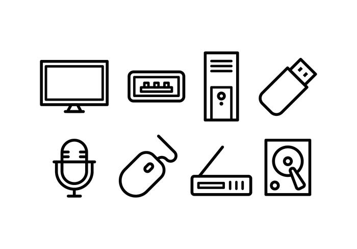 Computer Accessories Icon Pack.
