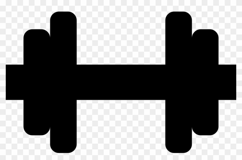 Jpg Black And White Download Dumbbell Png Icon Free.