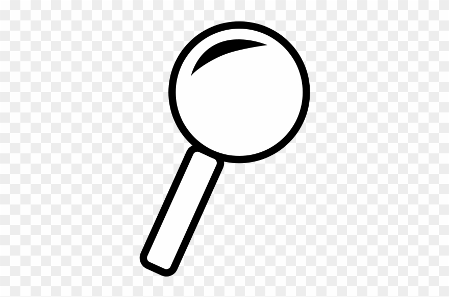 Magnifying Glass Outline Icon.