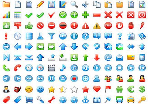 Download 16x16 Free Application Icons for Windows.