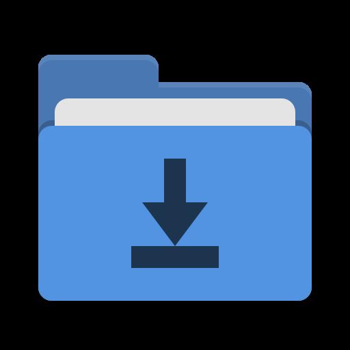 Folder blue download Icon.