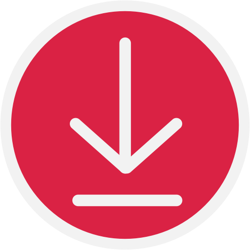 Arrow down, download, downloads icon.