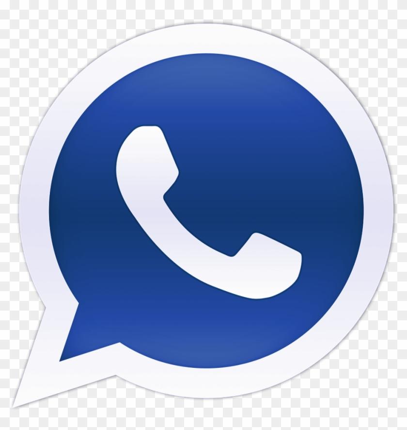 Blue Whatsapp Logo.