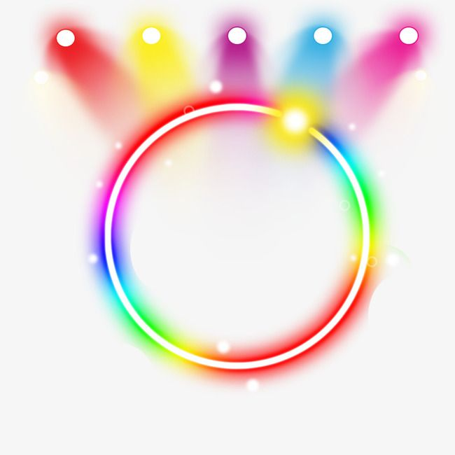 Neon Ring Light Effect, Annular, The Neon Lights, Colour PNG.
