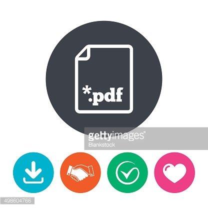 PDF file document icon. Download pdf button Clipart Image.