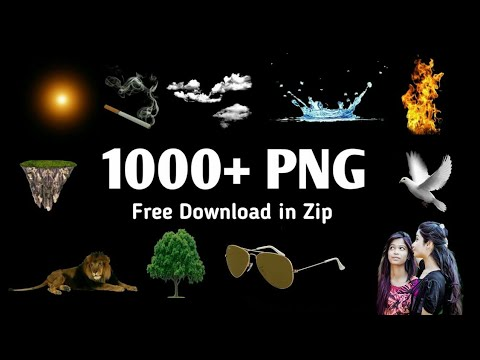 1000+ PNG & Effects Zip files for PicsArt & Photoshop Editing.