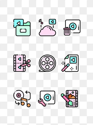 Video Editing PNG Images.