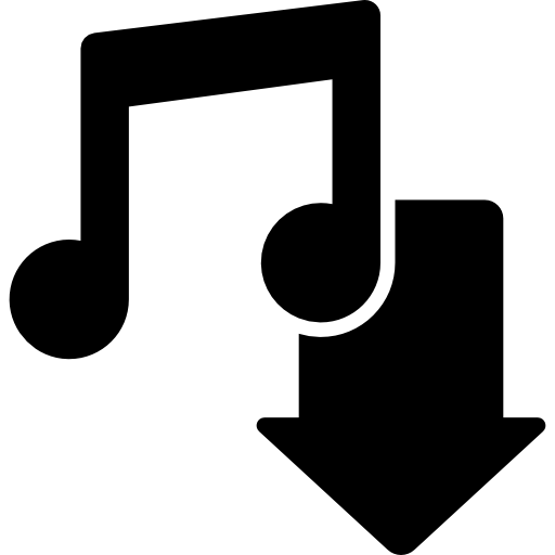 Music download button.