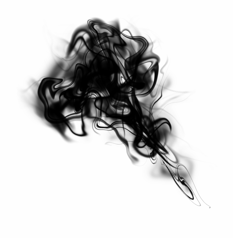 Free Download Black Smoke Effect Png.