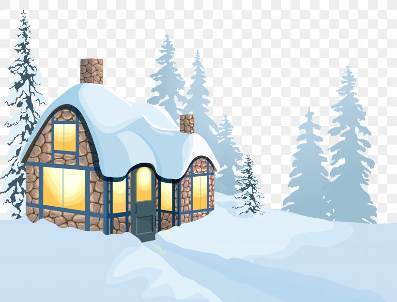 Winter House Clip Art, PNG, 8175x6221px, Snow, Cottage.