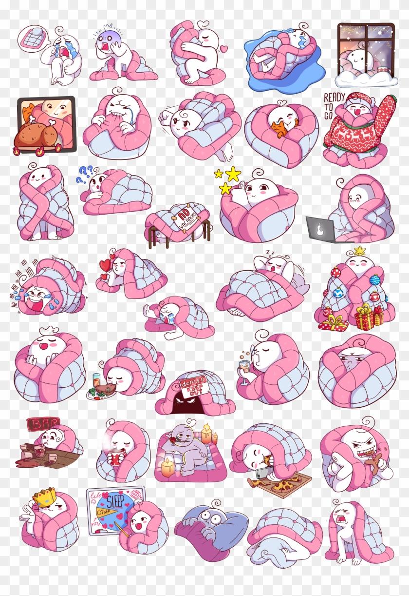 Blanket Telegram Stickers On Behance.