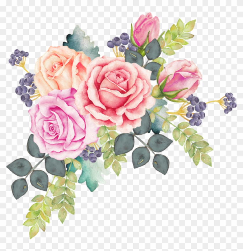 Free Png Download Watercolor Floral Wreath Png Images.