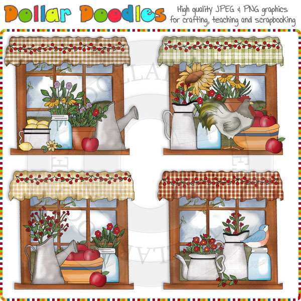 Country Window Clipart.