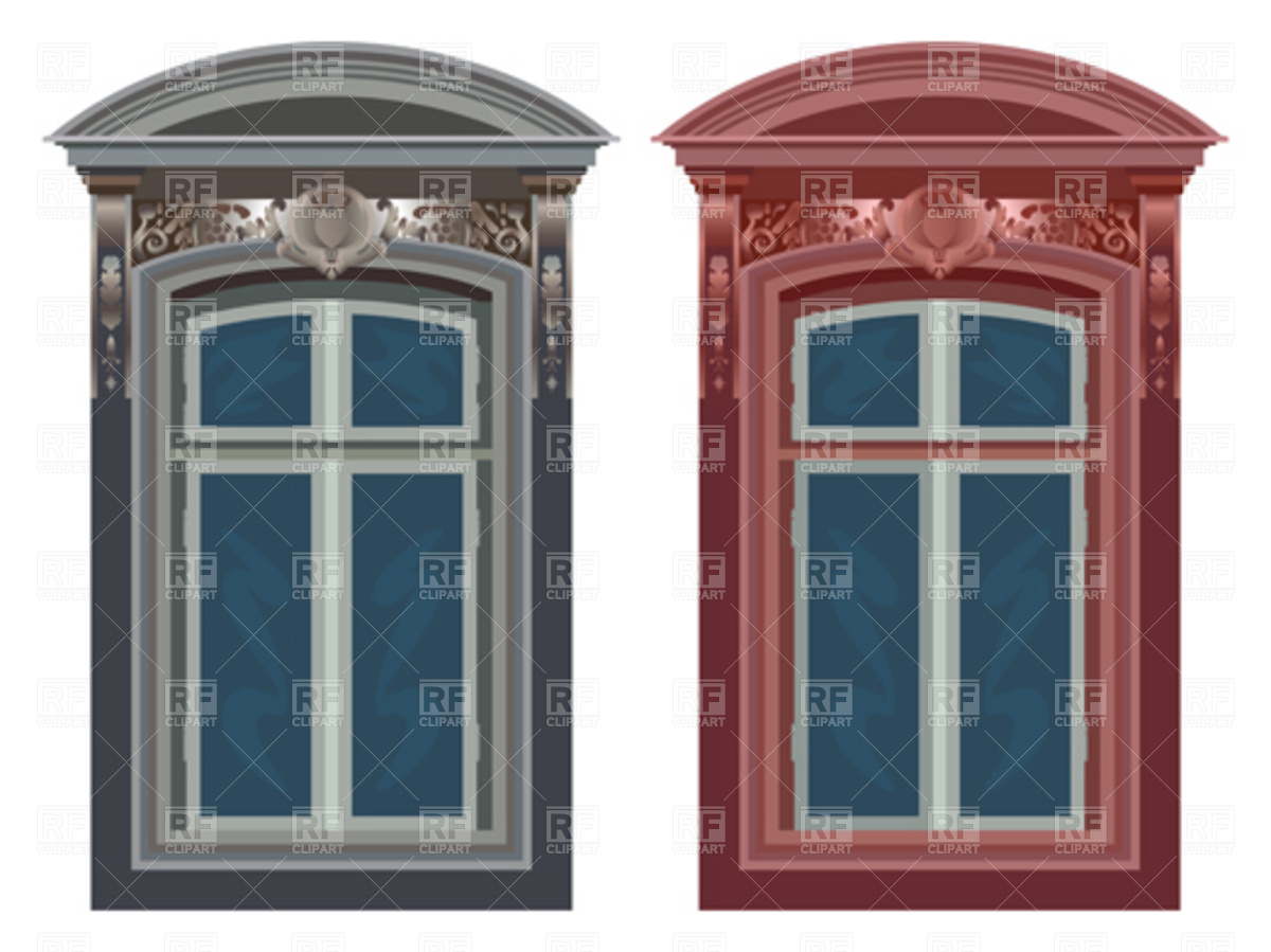 Old ornate windows Vector Image #4466.