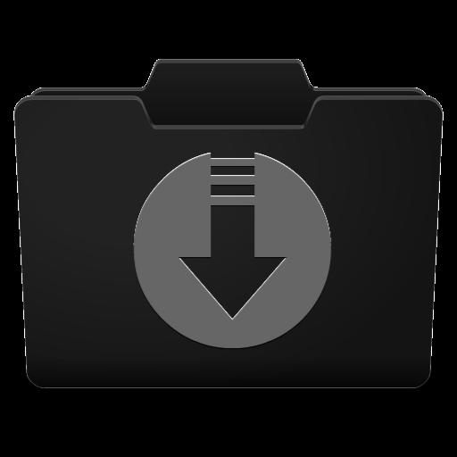 Black Grey Downloads Icon.