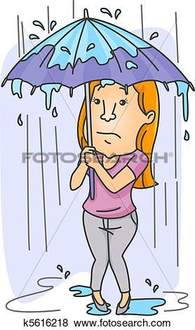 Stock Illustration of Downpour k5616218.