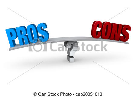 Clipart of Weighing The Pros And Cons.