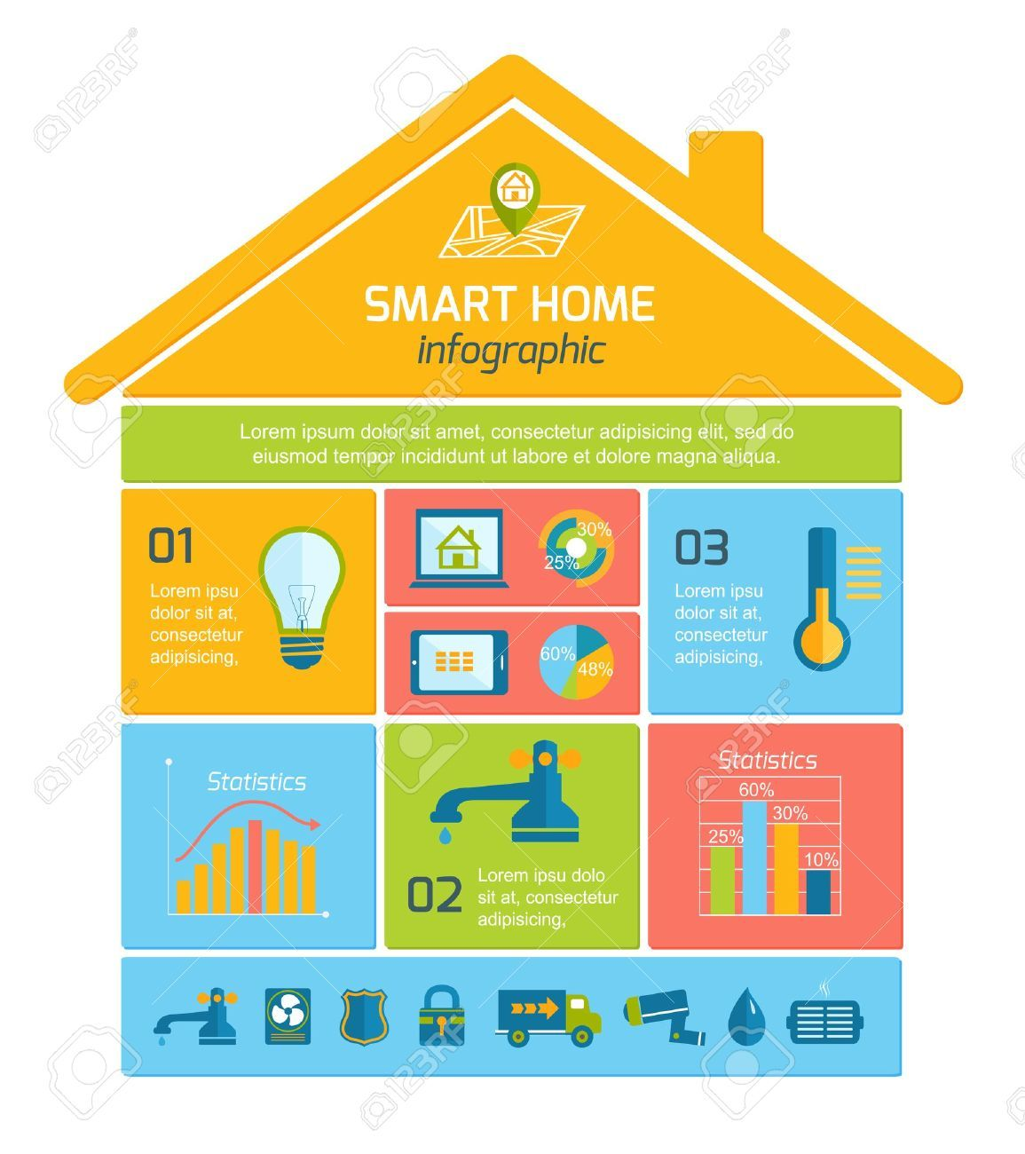 Smart Home Stock Illustrations, Cliparts And Royalty Free.