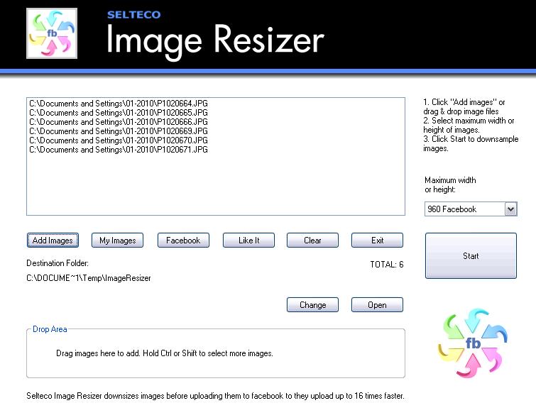 Free Image Resizer.