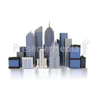 City Downtown Buildings.
