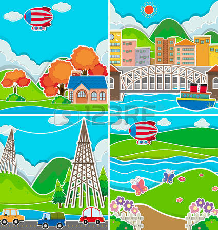 707 Downtown Area Stock Vector Illustration And Royalty Free.