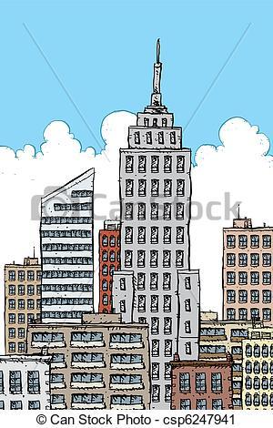Clipart of Big City.