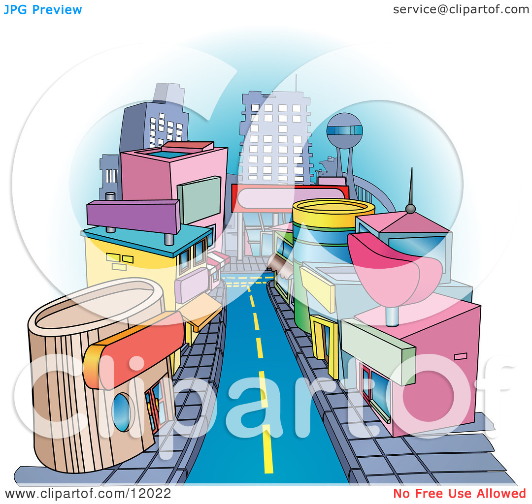 Downtown clipart.