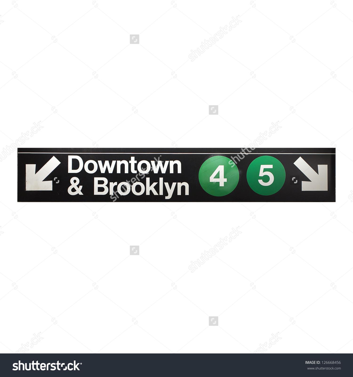New York City Subway Sign Midtown Stock Photo 126668456.