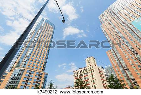 Stock Photo of Modern building in downtown Brooklyn. k7490212.