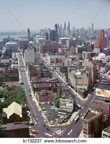 Picture of 1950S Aerial View Of Downtown Brooklyn Taken From.