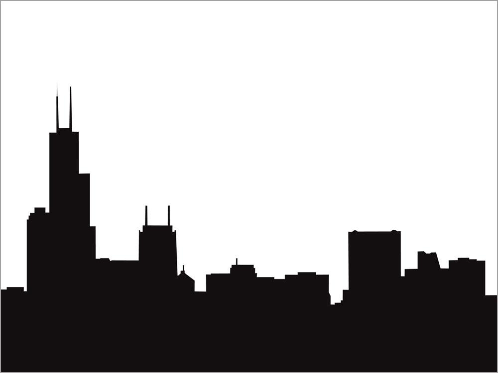 Chicago skyline clip art.