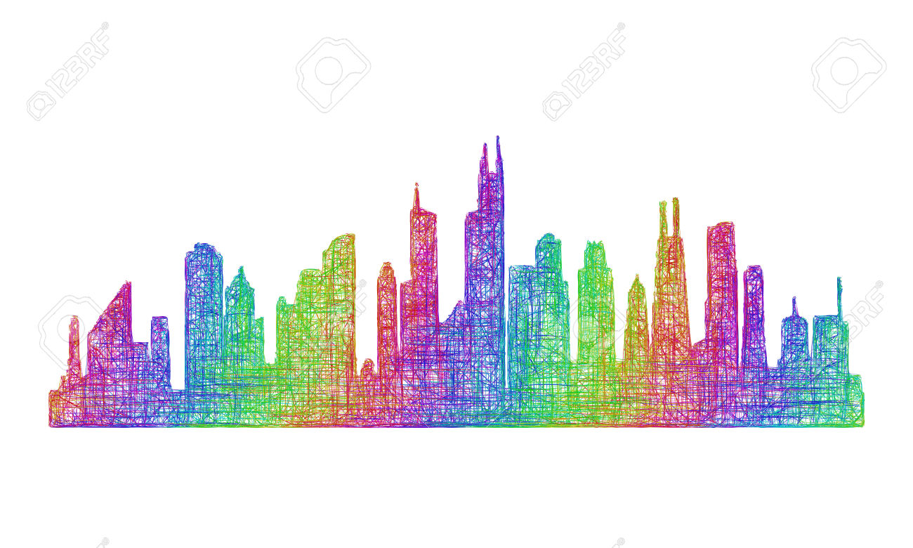 Downtown chicago clipart #13