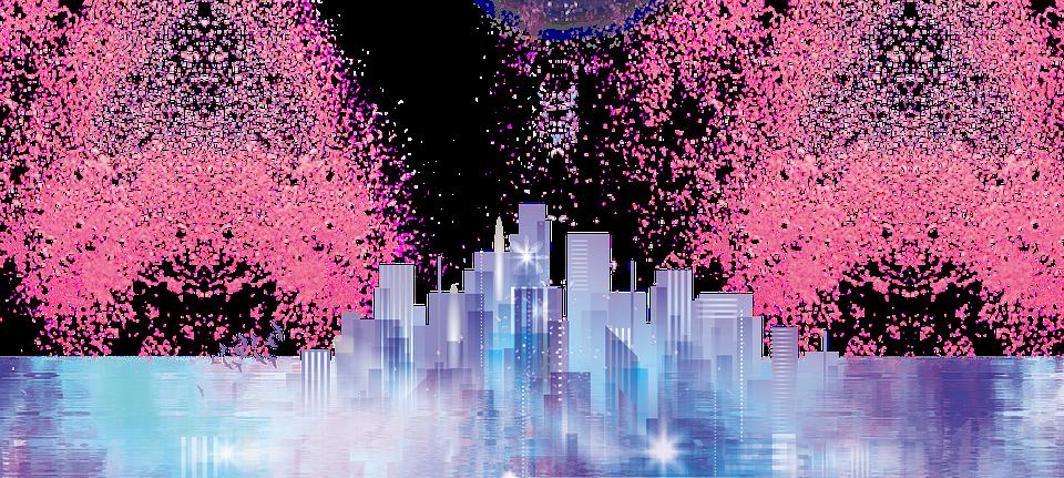 Downtown Skyscraper Panoramic.