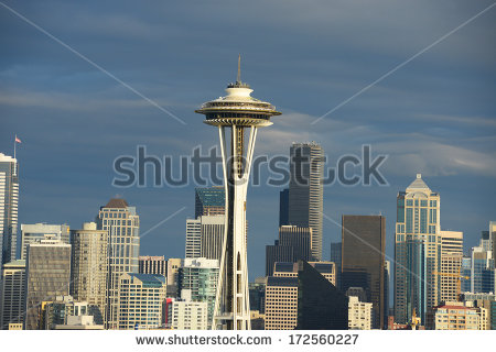Seattle Space Needle Stock Photos, Royalty.