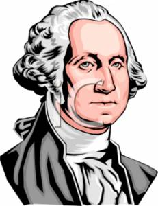 Clipart Picture of President George Washington.