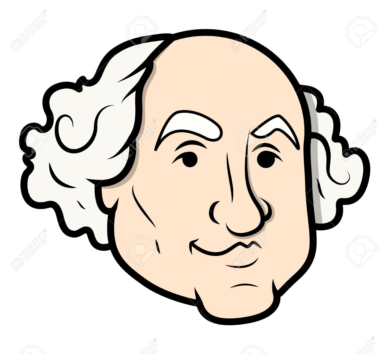 George Washington Vector Cartoon Clip.