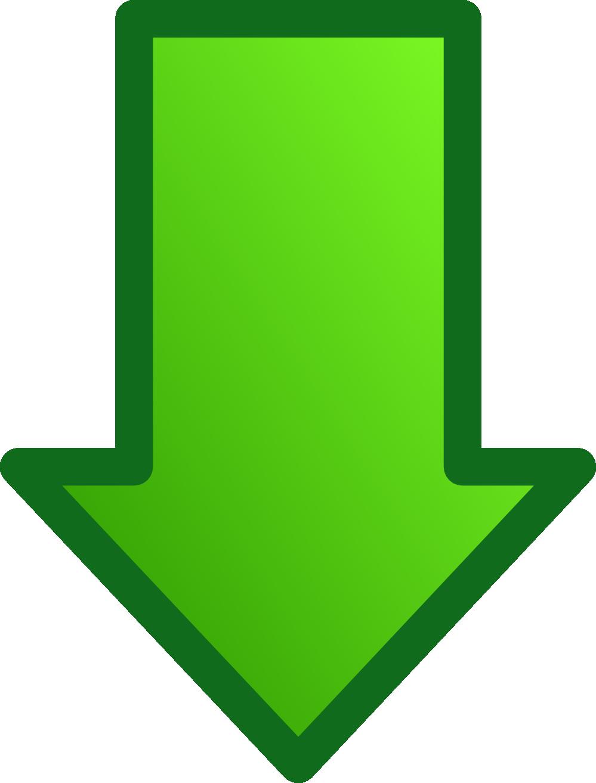 Green arrow downward clipart.