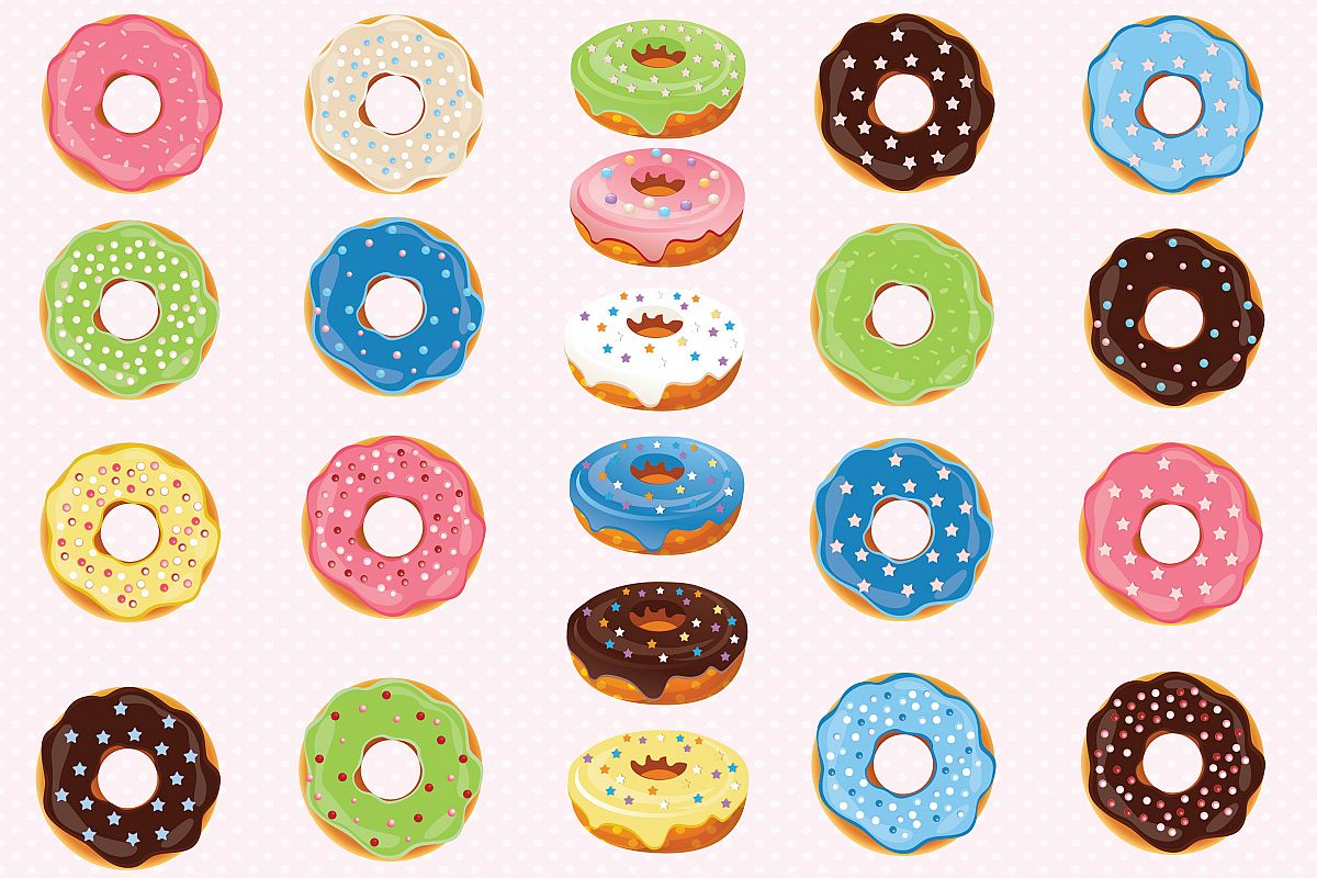 Donuts clipart, Donuts graphics.