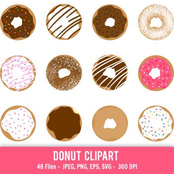 Donut clipart, Doughnut clipart, Printable donuts, Cute donut clipart,  Dessert.