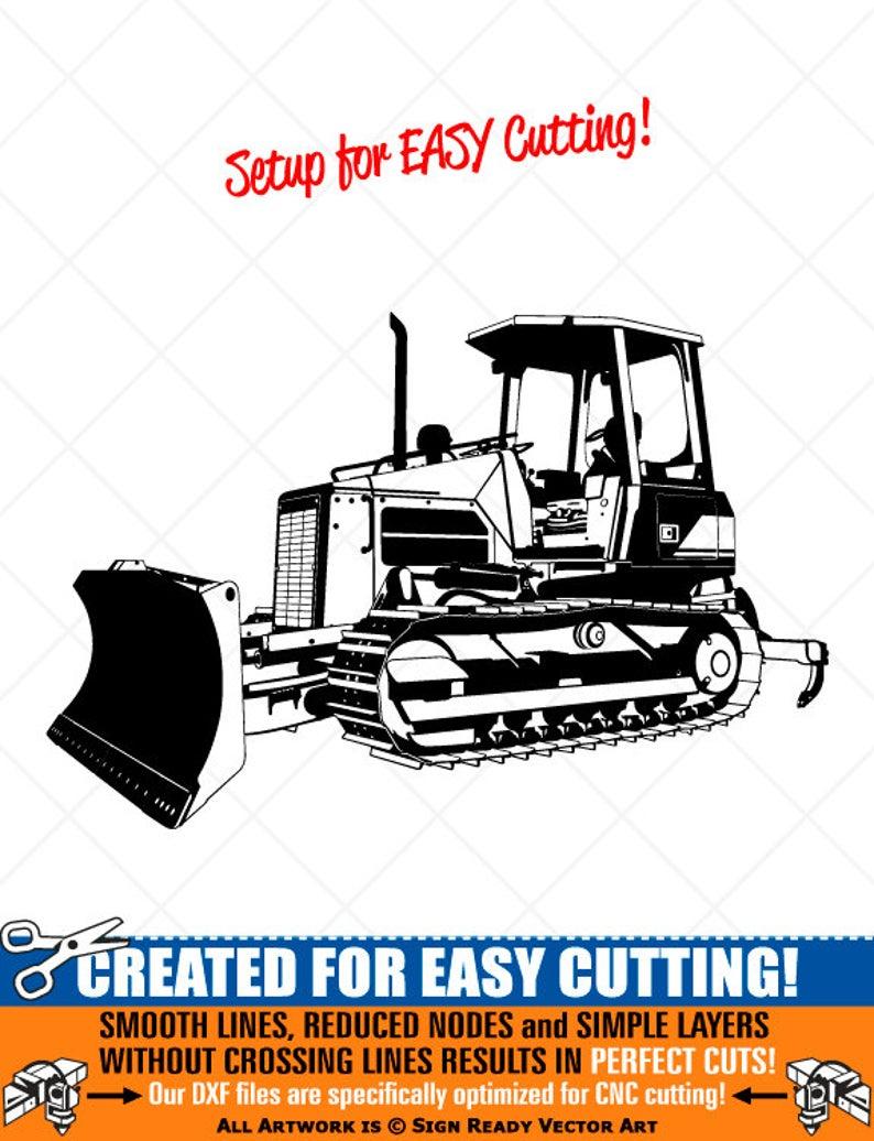 Detailed Bulldozer Clipart.