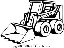 Bulldozer Clip Art.